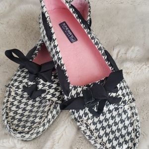 Sperry Black and White Loafers